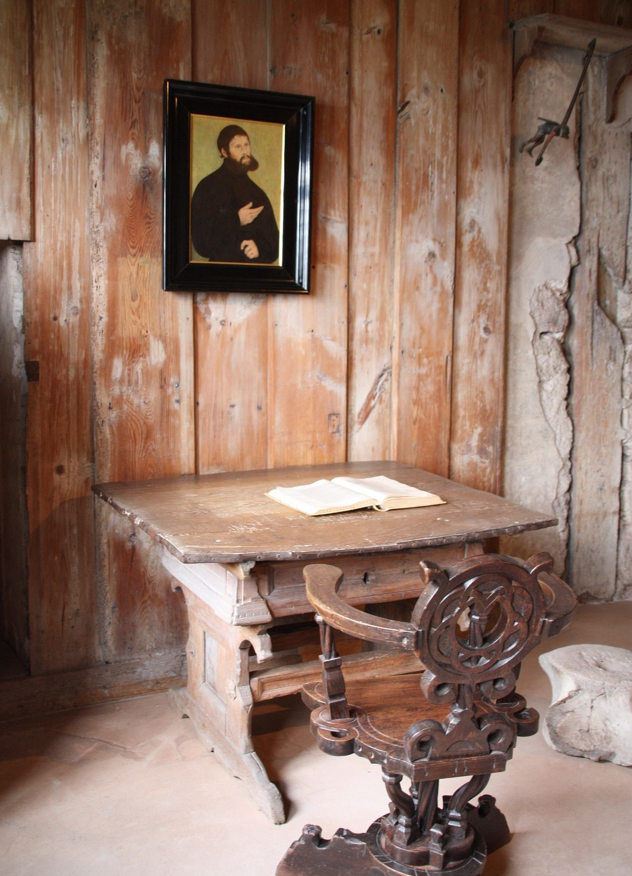 Martin Luther's Desk at Wohlberg Castle